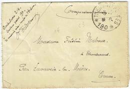 LAC Pour Chambéraud (23) - 26 Avril 1917 - CAD Secteur Postal 190 - Ambulance 214 - Guerre 14-18 WWI - Oorlog 1914-18