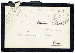 ESC Pour Chambéraud (23) - 23 Juillet 1917 - CAD Secteur Postal 190 - Ambulance 214 - Guerre 14-18 WWI - Oorlog 1914-18