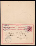 """Adler Mit Aufdruck """"Deutsch-Südwestafrika"""" 10/10 Pfg. Mit K1 HARIS 29/10 01  - Colony: German South West Africa"""