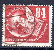RDA - DDR; 1950; Exposition Philatélique à Leipzig; YT 14 - Michel 260; Oblitéré, Lot 49426 - Usados