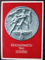 DR Progagandakarte Reichspateitag 1938 Festpostkarte Gelaufen Mit Marke Und SST Nürnberg - Postwaardestukken