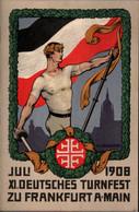 ! 1908 Privatpostkarte, Ganzsache, XI. Deutsches Turnfest, Frankfurt Am Main, PP27C97/01 - Ganzsachen