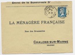 PASTEUR 1FR N°179 SEULL ETTRE CONDE EN BRIE 14.10.1926 AU TARIF - 1922-26 Pasteur