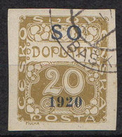 SILESIE ORIENTALE  ( TAXE ) : Y&T  N° 4  TIMBRE  BIEN  OBLITERE . A  SAISIR . - Silesia (Alta & Baja)