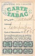 Carte D'alimentation De Tabac Loi 1942 Ww2  Compiègne Oise - Unclassified