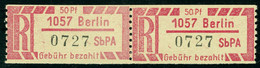 """DDR ~1968 Michel-# 1Ax-1257 """" Paar Einschreibzettel Selbstbedienungspostamt In ** """" Michel ~ 8 € - Neufs"""