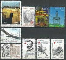 France N° 4369 - 4375 - 4377 - 4381 - 4384 - 4386 - 4387 - 4389 - 4391   Obl. - Used Stamps