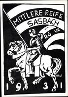 Studentika CPA Sasbach In Der Ortenau, Mittlere Reife RG UII 1931, Reiter Mit Fahne - Other