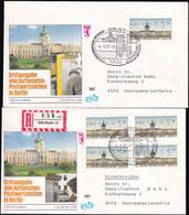 BERLIN 1987 Mi-Nr. ATM 1 VS2 Automatenmarken Einschreiben FDC - FDC: Sobres