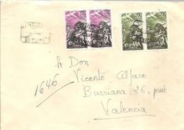 CARTA 1956  CERTIFICADA  SEVILLA - 1951-60 Cartas