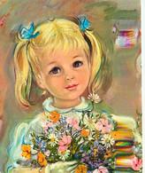 Enfants - Illustration - Dessin - Petites Filles De France- CPM - Voir Scans Recto-Verso - Kindertekeningen