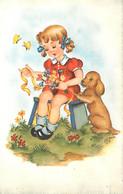 Enfants - Illustration - Dessin - Carte Format CPA - Voir Scans Recto-Verso - Kindertekeningen