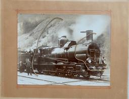 Photographie. PLM. Train Vapeur. Plm 2165 4518 .Mr Eugène Perrier . Cheminots, TENAY AIN. Marcelin Photographe - Trains