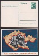 Deutsches Reich 6 Pfg. GA Ungebraucht Mit Abb. Sudetenland Mit Karlsbad, Freiwaldau Nikolsberg Eger Brüx - Ganzsachen