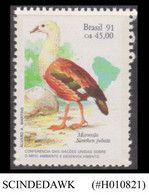 BRAZIL - 1991 UNCED CONFERENCE FOR ENVIRONMENT & DEVELOPMENT / BIRD - 1V - MNH - Geese