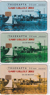 GREECE - Set Of 3 Cards, Card Collect 2002, Exhibition In Thessaloniki, Tirage 1000, 05/02, Mint - Collezioni