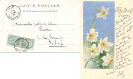 ALGERIE CONSTANTINE SETIF TàD 2 JANV 04 1904 CP + 5 MOTS Pour SETIF - 1877-1920: Semi Modern Period
