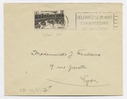 N°499 5FR BEAUNE BDF SEUL LETTRE FLIER CELEBREZ LA LEGION LYON 1941 COTE 50€ - Maschinenstempel (Werbestempel)