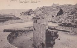 Ostende Dans Les Dunes Canon Batterie De Côte - Guerra 1914-18