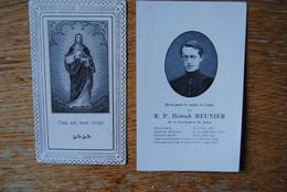 5300/Hénoch MEUNIER-Ordination Sacerdo /Décès BINCHE -1877/1917 (2 Lots) - Décès