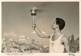 Greece Postcard From Athens Olympic Flame - Mint   (G135-30) - Jeux Olympiques