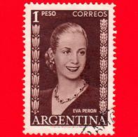 ARGENTINA - Usato - 1952 - Eva Perón (1919-1952), Politico - 1 - Gebruikt