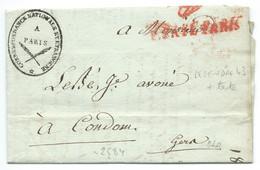 MARQUE POSTALE DE PARIS POUR CONDOM / 18 JANV 1808 / RAGOULLEAU / CORRESPONDANCE NATIONALE ET ETRANGERE - 1801-1848: Précurseurs XIX
