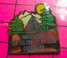 615e Pin's Pins / Beau Et Rare / THEME : ASSOCIATION / CHERBOURG LES COLONS DE ST JEAN TENTE CAMPING - Associations
