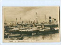 Y18696/ Napoli Porto Mercantile  Hafen Dampfer Foto AK Ca.1930 - Unclassified
