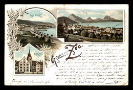 SUISSE - ZOUG - ZUG - CARTE LITHOGRAPHIQUE GRUSS - VOIR ETAT - ZG Zoug