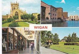 Unused Postcard, Lancashire, Wigan Multiview 2 - Otros