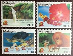 Malaysia 1994 Visit Malaysia Flowers Turtles Animals MNH - Malesia (1964-...)