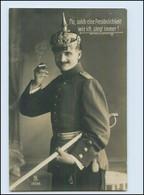X1U12/ Soldat Mit Pickelhaube  Und Zigarette Foto AK 1911 - Weltkrieg 1914-18