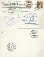 """NN Karte  """"Graber, Magasin De Meubles, Travers"""" - Fleurier  (Impayé)          1916 - Cartas"""
