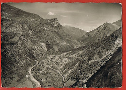 MARIE-sur-TINEE - 06- Vue Sur La Tinée, La Route D'Auron Et La Route Qui Mène Au Village -CPSM VINTAGE Circulée 1972- - Sonstige Gemeinden