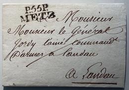 """P55P METZ"" Lettre ~1799-1810>LANDAU IN DER PFALZ, BAYERN (France 67 Bas-Rhin Moselle Brief - 1801-1848: Précurseurs XIX"