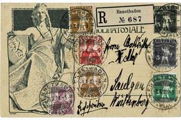 1909, 2 Kpl. Sätze, Reko-Karte!,  A 5247 - Cartas