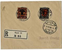 "1918, "" Satz-Reko PJ, SBK Fr. 300.- ,  A 5248 - Cartas"