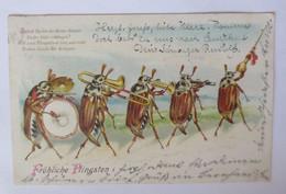 Pfingsten, Personifiziert, Maikäfer, Musizieren, 1905 ♥ (42347) - Pentecoste