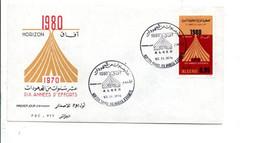 ALGERIE FDC 1974 HORIZON 1980 - Algerije (1962-...)
