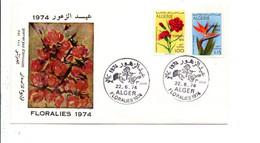ALGERIE FDC 1974 FLORALIES - Algerije (1962-...)