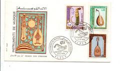 ALGERIE FDC 1968 INSTRUMENTS DE MUSIQUE - Algerije (1962-...)