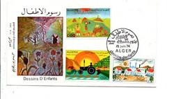 ALGERIE FDC 1974 DESSINS D'ENFANTS - Algerije (1962-...)