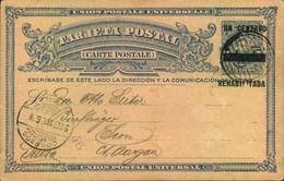 1916, Overprinted Stationery Card To Siwitzerland - El Salvador