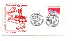 ALGERIE FDC 1975 COLLECTE ET TRANSFUSION SANGUINE - Algerije (1962-...)