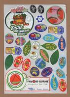 AC - FRUIT LABELS Fruit Label - STICKERS LOT #92 - Frutas Y Legumbres