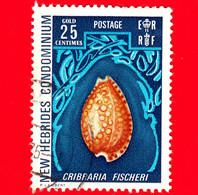 NUOVE EBRIDI - New Hebrides - 1972 - Fauna Marina - Conchiglia - Coquillage - Shell - Cribraria Fischeri - 25 - Gebruikt