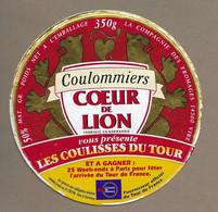 ETIQUETTE De FROMAGE..COULOMMIERS Fab NORMANDIE..Coeur De Lion.. Compagnie Fromages VIRE (14).. Coulisses Du Tour France - Formaggio