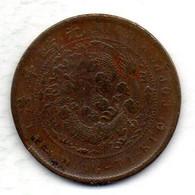 CHINA - HUPEH, 10 Cash, Copper, Year N.D. (1906), KM #10j - Chine