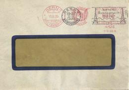 """Brief  Bern  """"Freistempel Postfach 586 - Berner Wappen""""  (Datumskonflikt)         1939 - Cartas"""